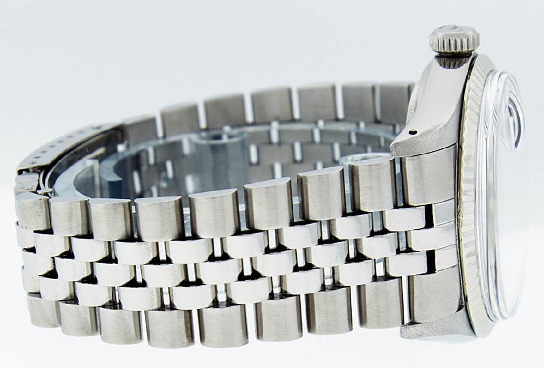 Rolex Mens Stainless Steel Black Diamond 36MM Datejust - 3
