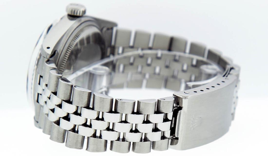 Rolex Mens Stainless Steel Black Diamond 36MM Datejust - 6