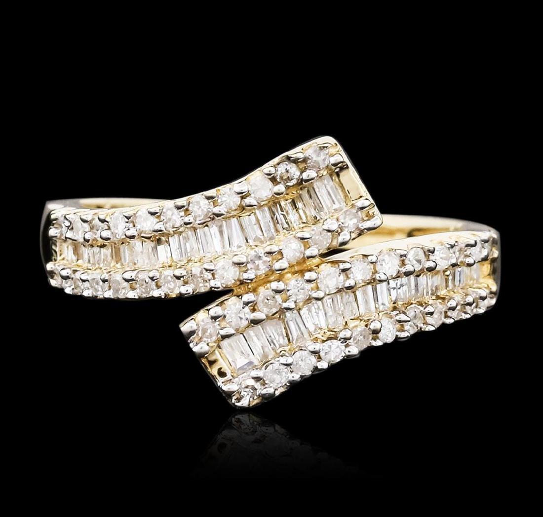 10KT Yellow Gold 0.50 ctw Diamond Ring - 2