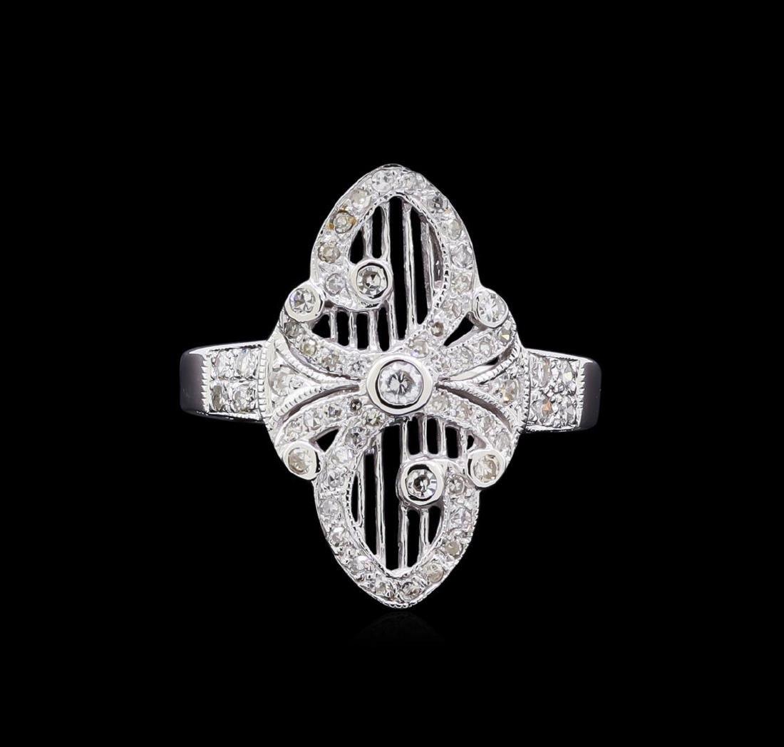 0.40 ctw Diamond Ring - 18KT White Gold - 2