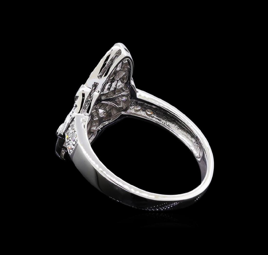 0.40 ctw Diamond Ring - 18KT White Gold - 3