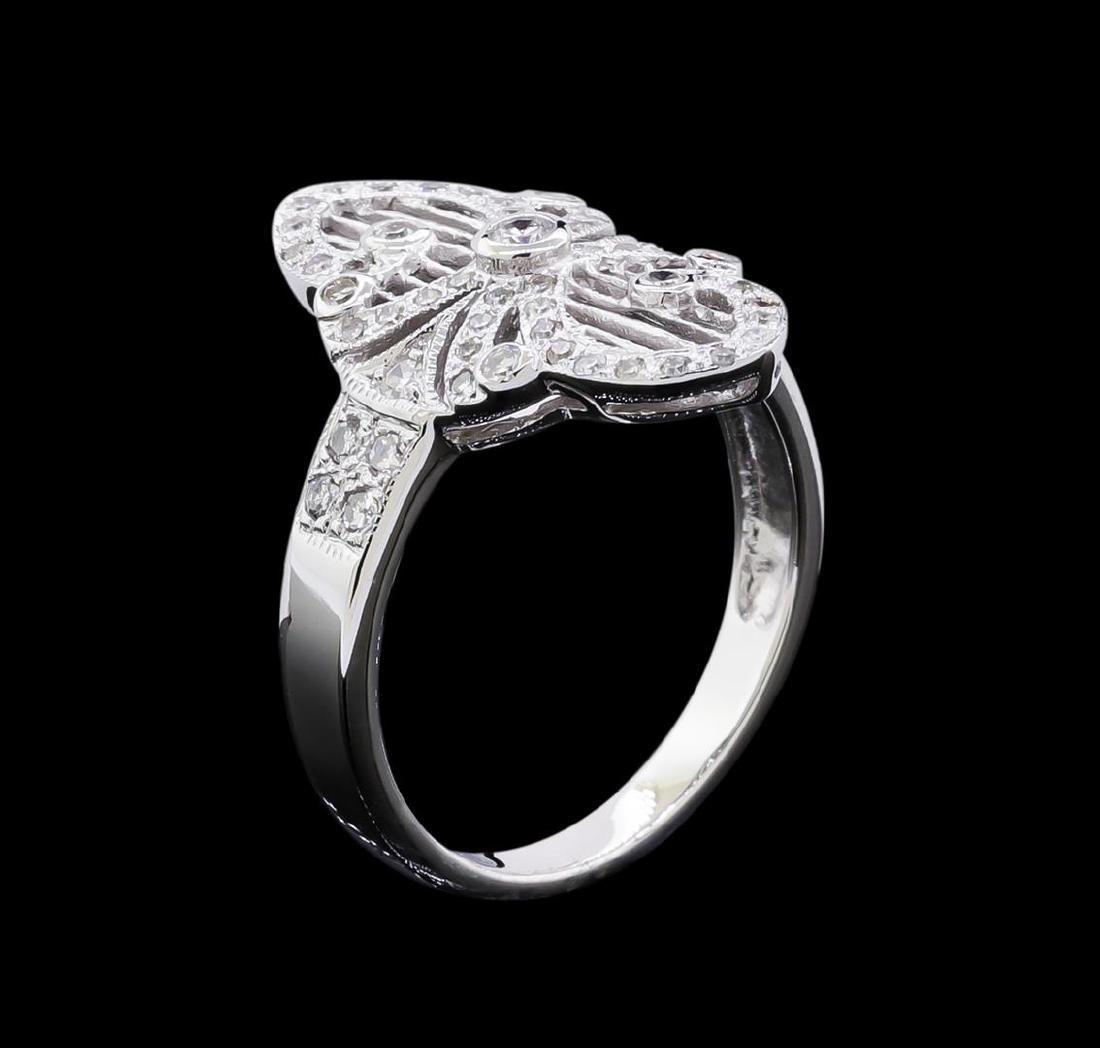 0.40 ctw Diamond Ring - 18KT White Gold - 4
