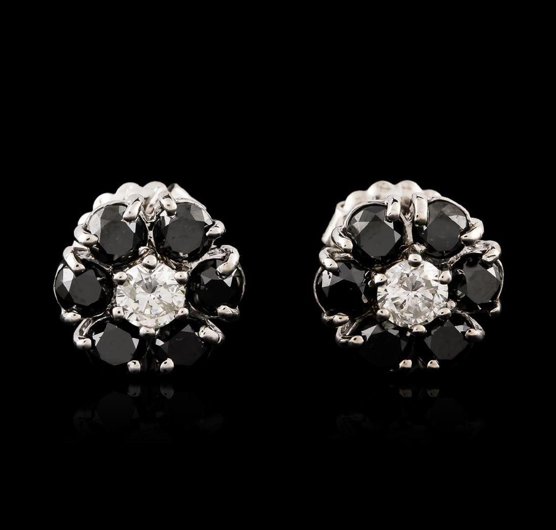 14KT White Gold 3.32 ctw Black and White Diamond