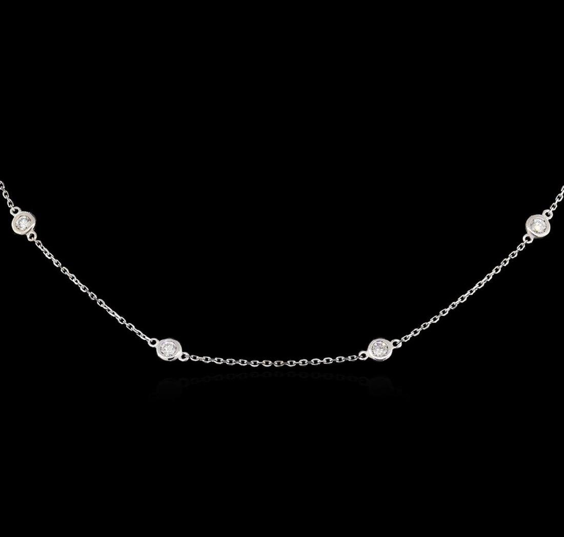 14KT White Gold 0.99 ctw Diamond Necklace