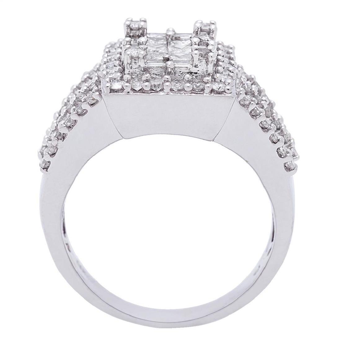 1.44 ctw Diamond Ring - 14KT White Gold - 3