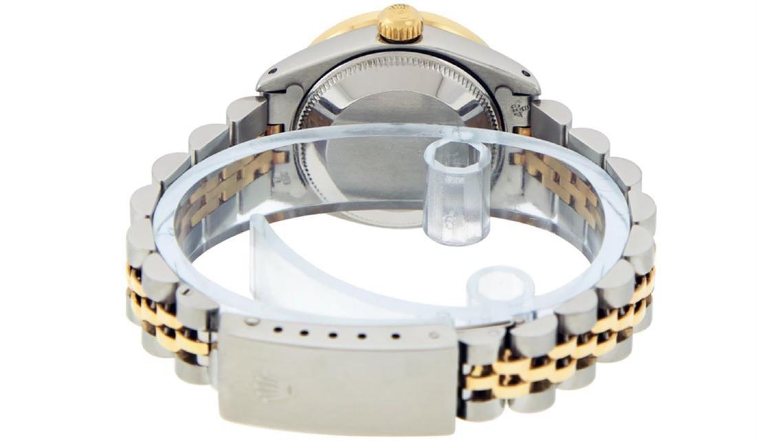 Rolex Ladies 2 Tone 14K Black Index & Pyramid Diamond - 7
