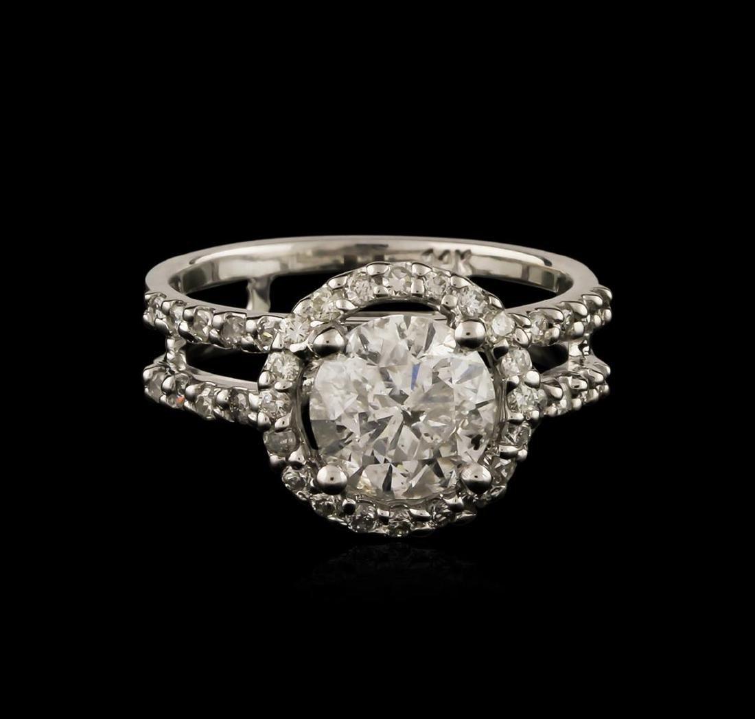 14KT White Gold 1.75 ctw Diamond Ring - 2