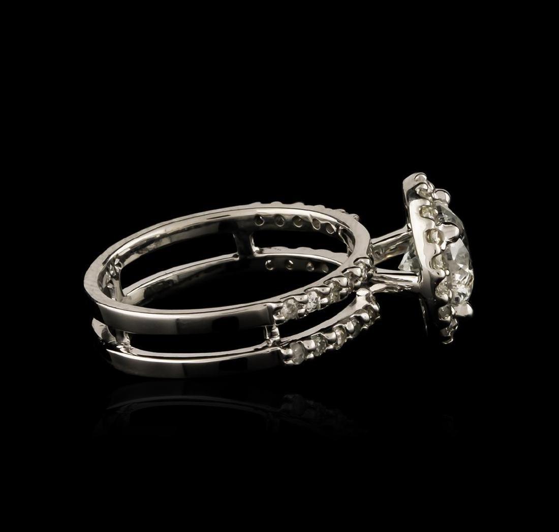 14KT White Gold 1.75 ctw Diamond Ring - 3