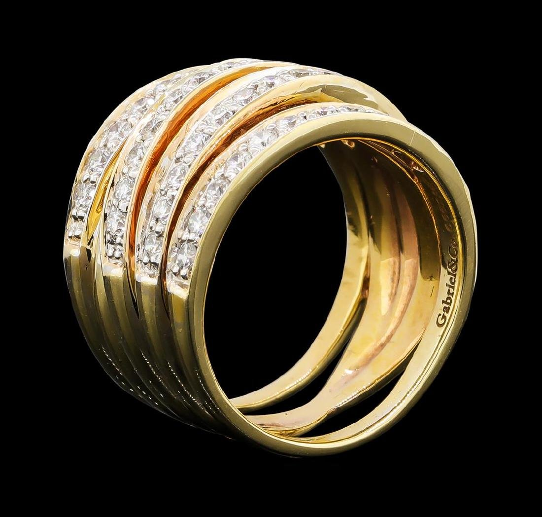1.15 ctw Diamond Ring - 14KT Yellow Gold - 4