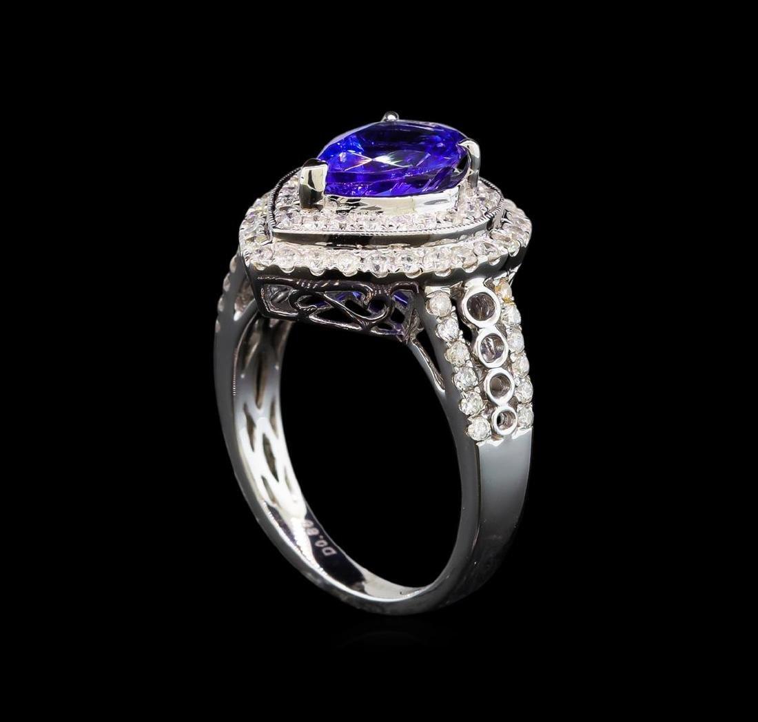 14KT White Gold 2.35 ctw Tanzanite and Diamond Ring - 4