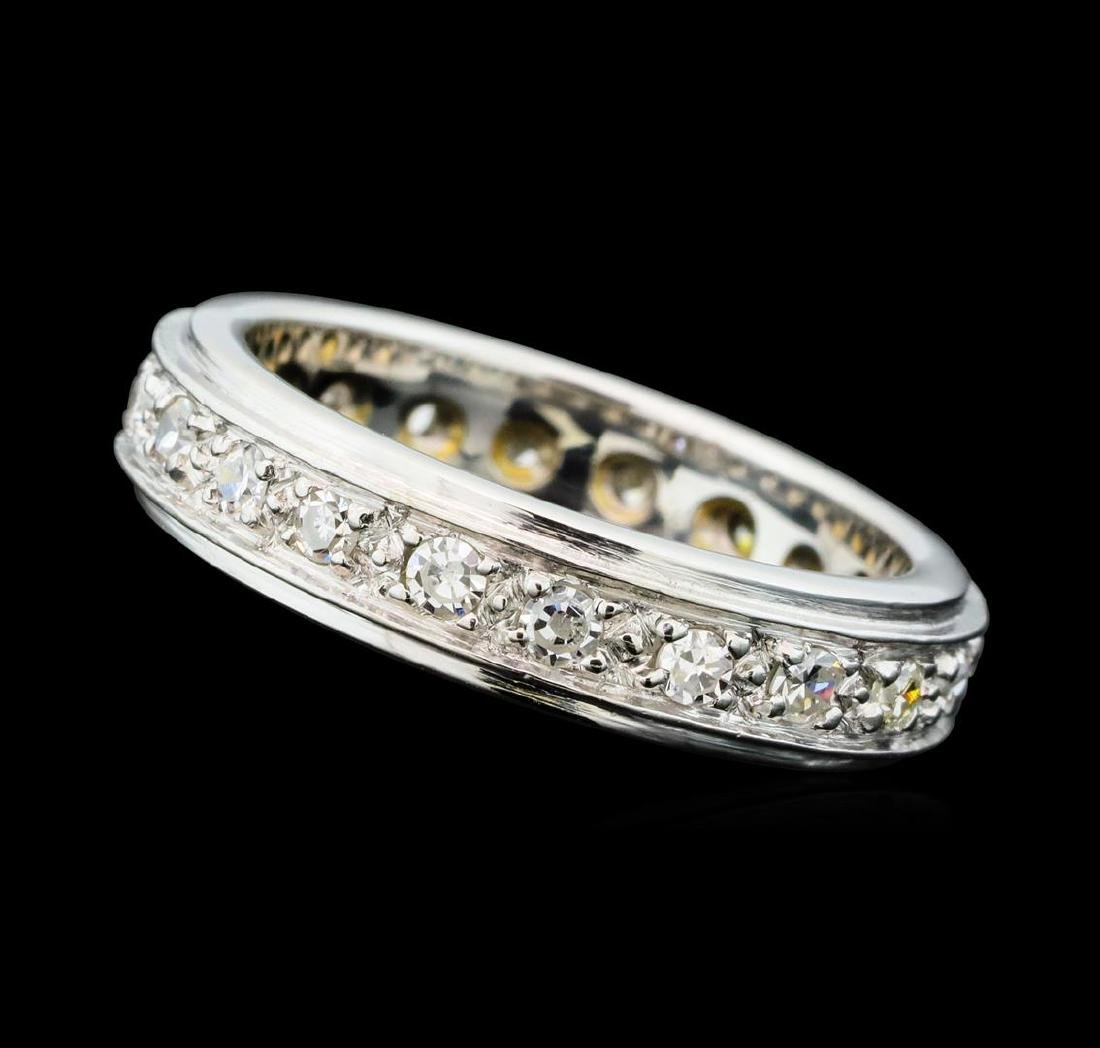 0.80 ctw Diamond Eternity Band - 14KT White Gold