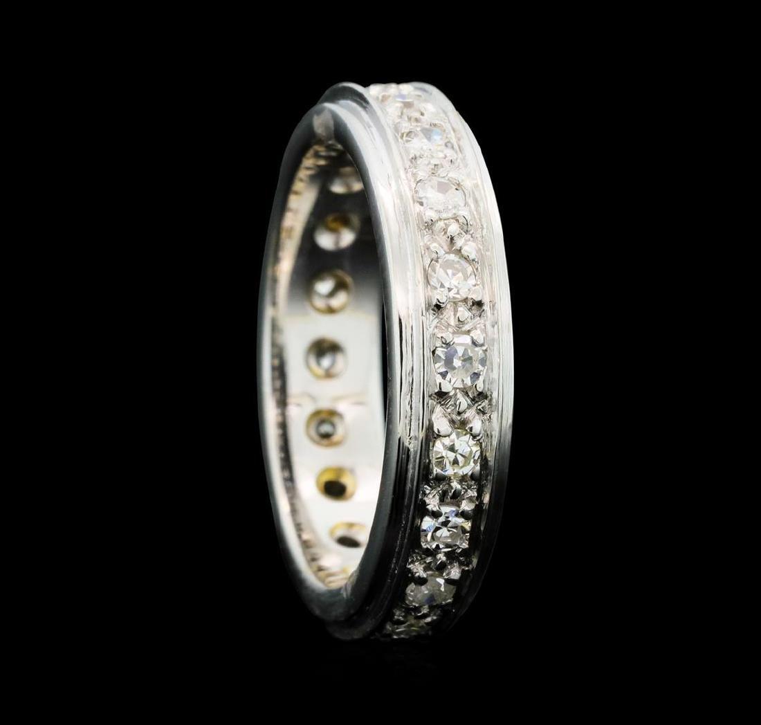 0.80 ctw Diamond Eternity Band - 14KT White Gold - 4