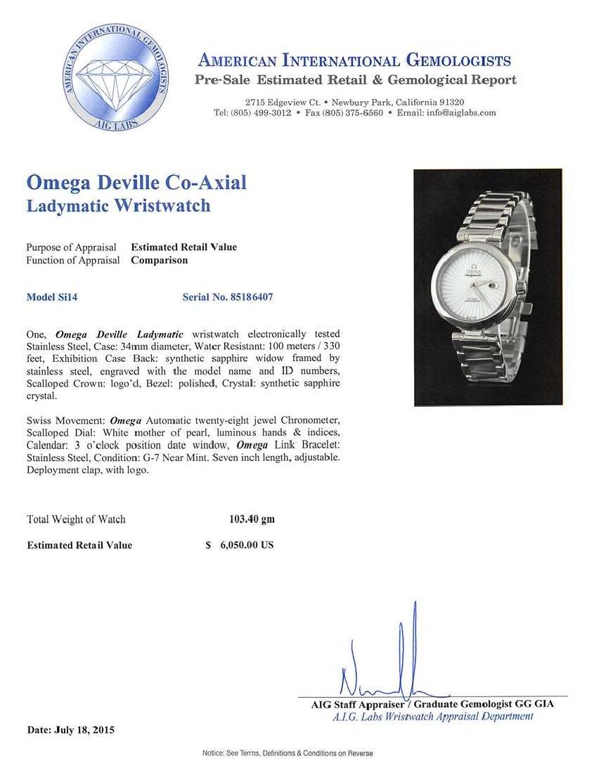 Omega Stainless Steel Deville Co-Axial Ladymatic Watch - 5