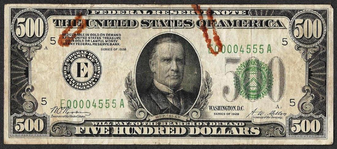 1928 $500 Federal Reserve Note