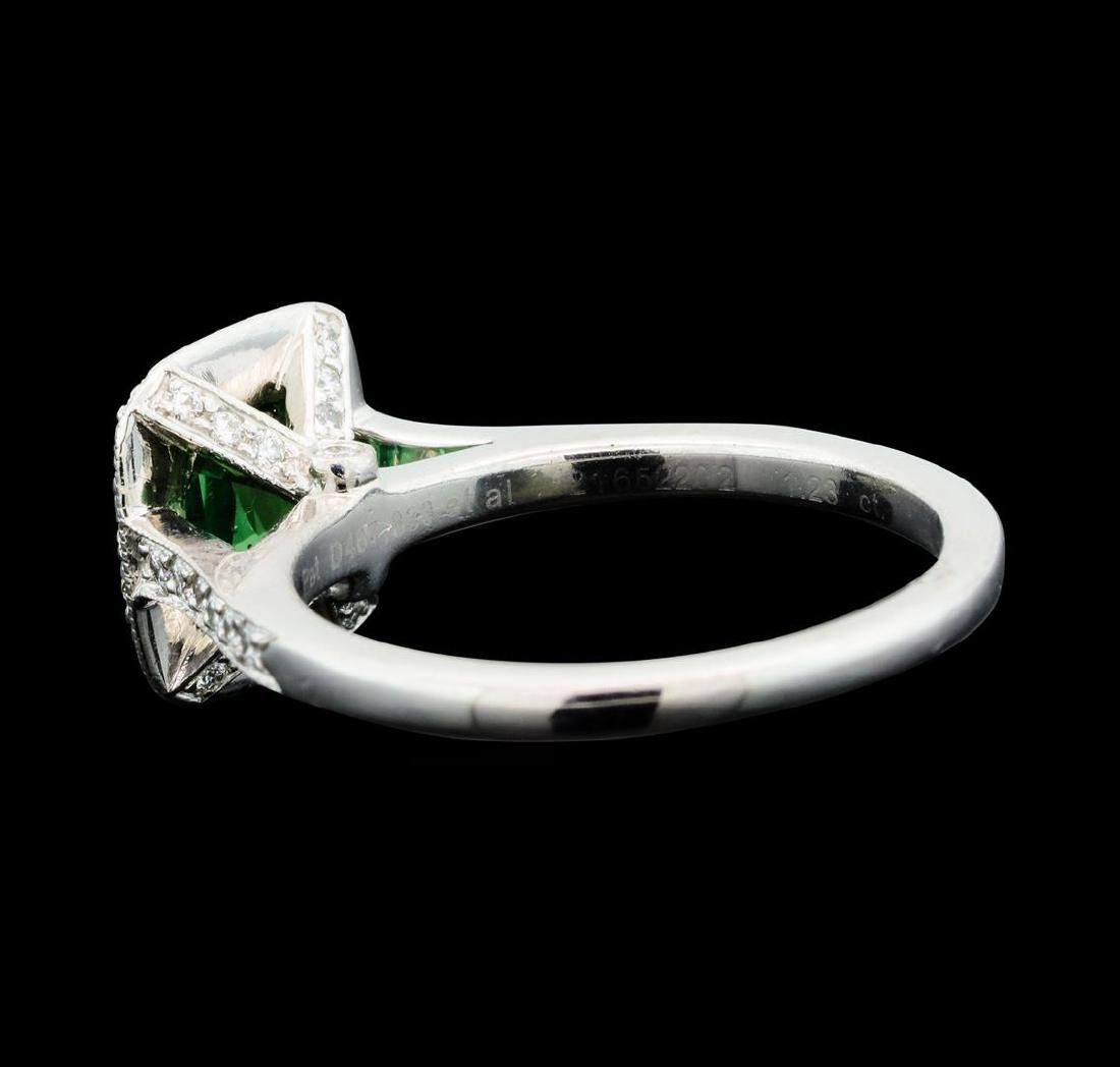 1.23 ctw Helenite and Diamond Ring - Platinum - 3