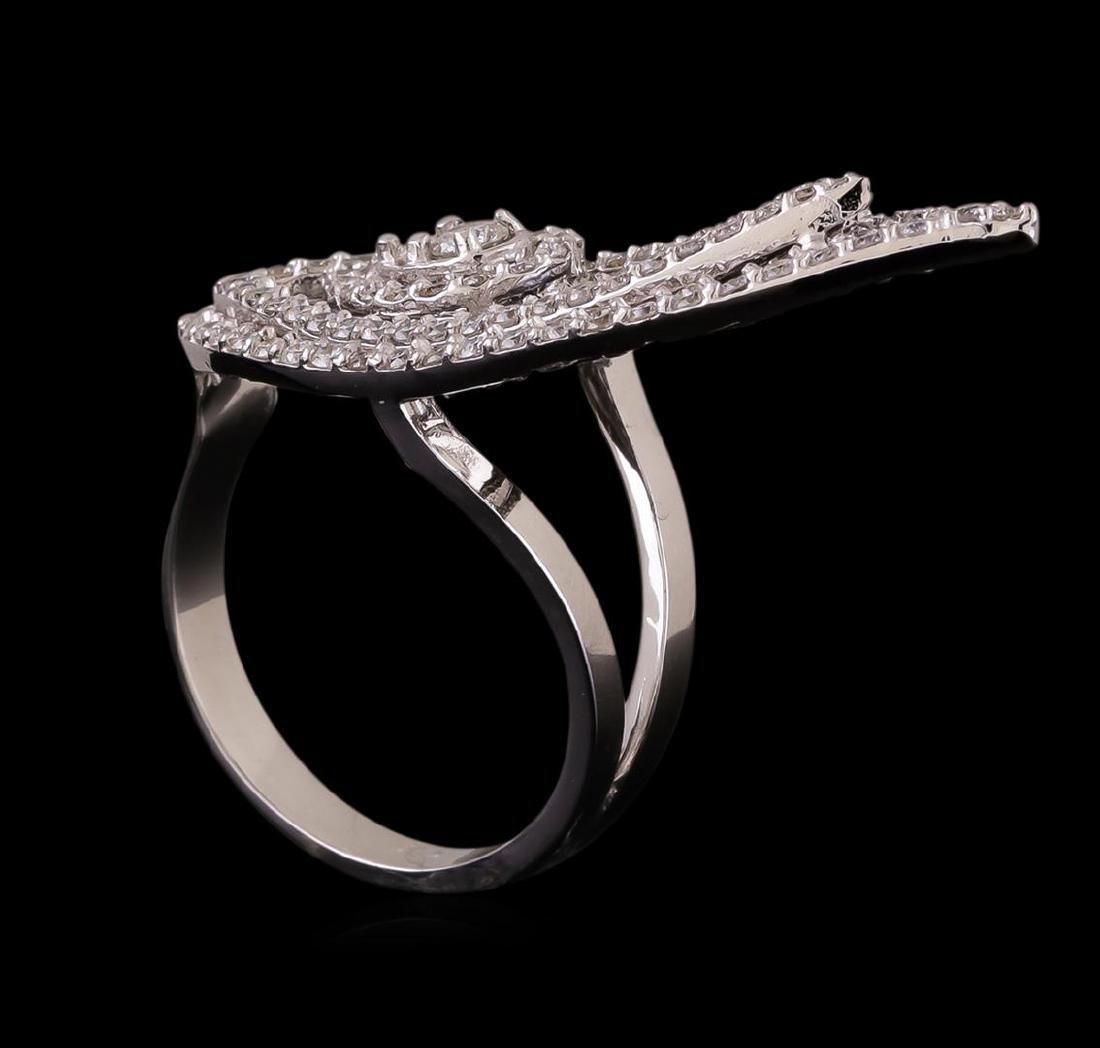 14KT White Gold 0.98 ctw Diamond Ring - 4