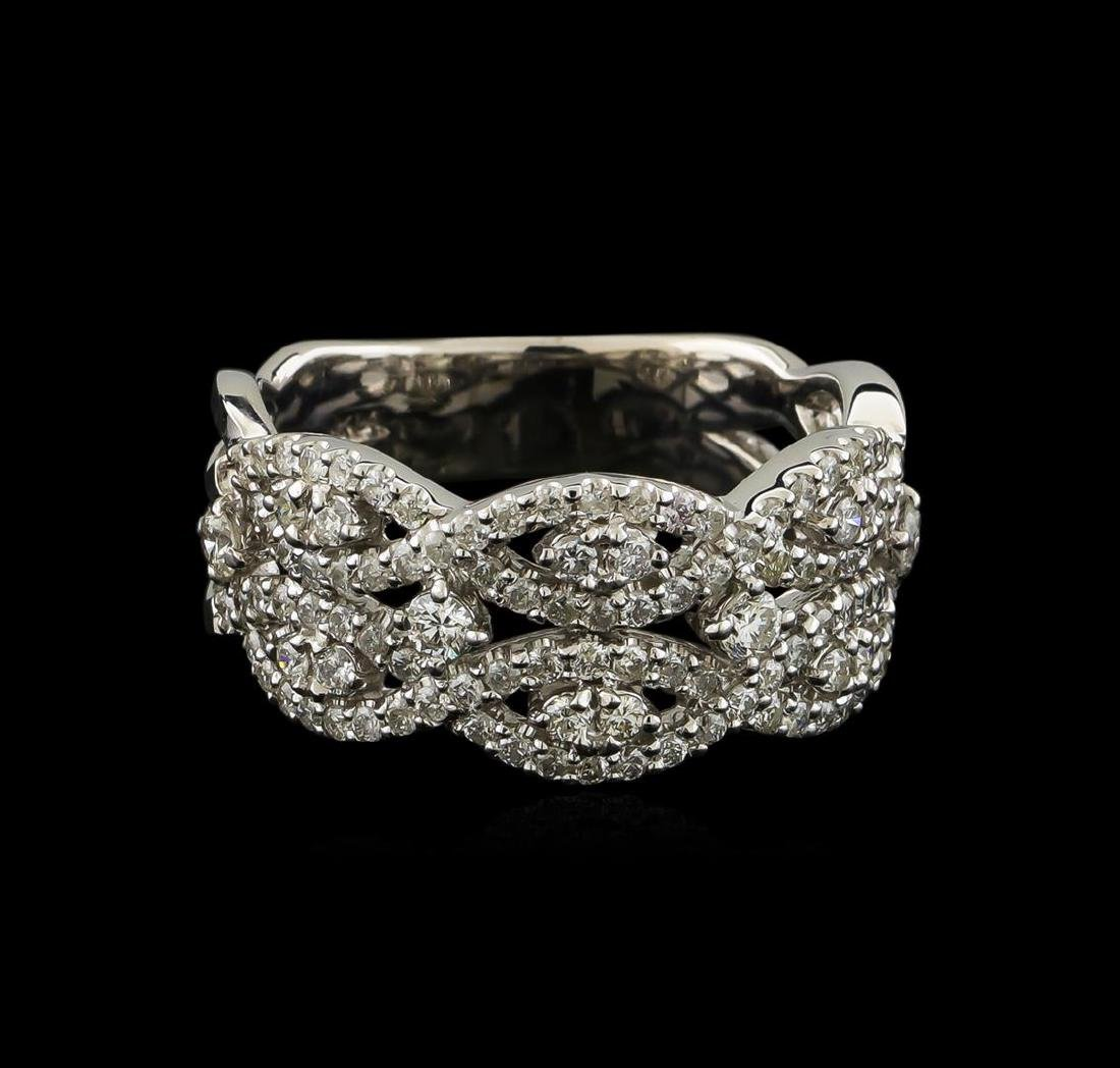1.25 ctw Diamond Ring - 14KT White Gold - 2