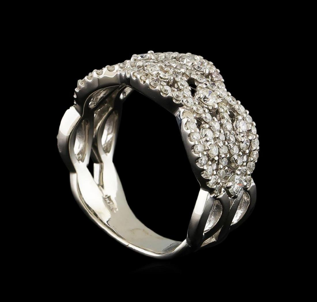 1.25 ctw Diamond Ring - 14KT White Gold - 4