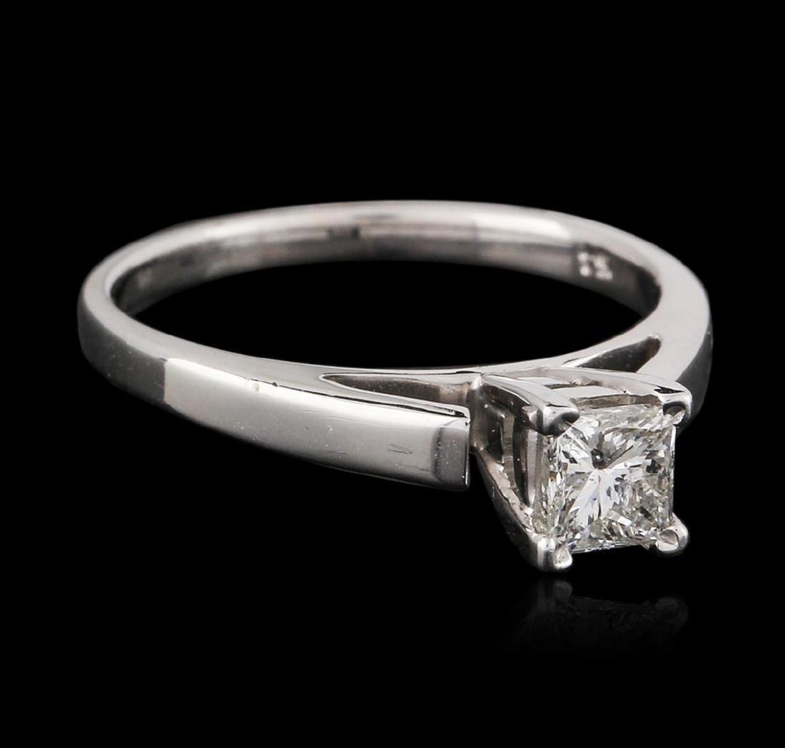 14KT White Gold 0.54 ctw Princess Cut Diamond Solitaire