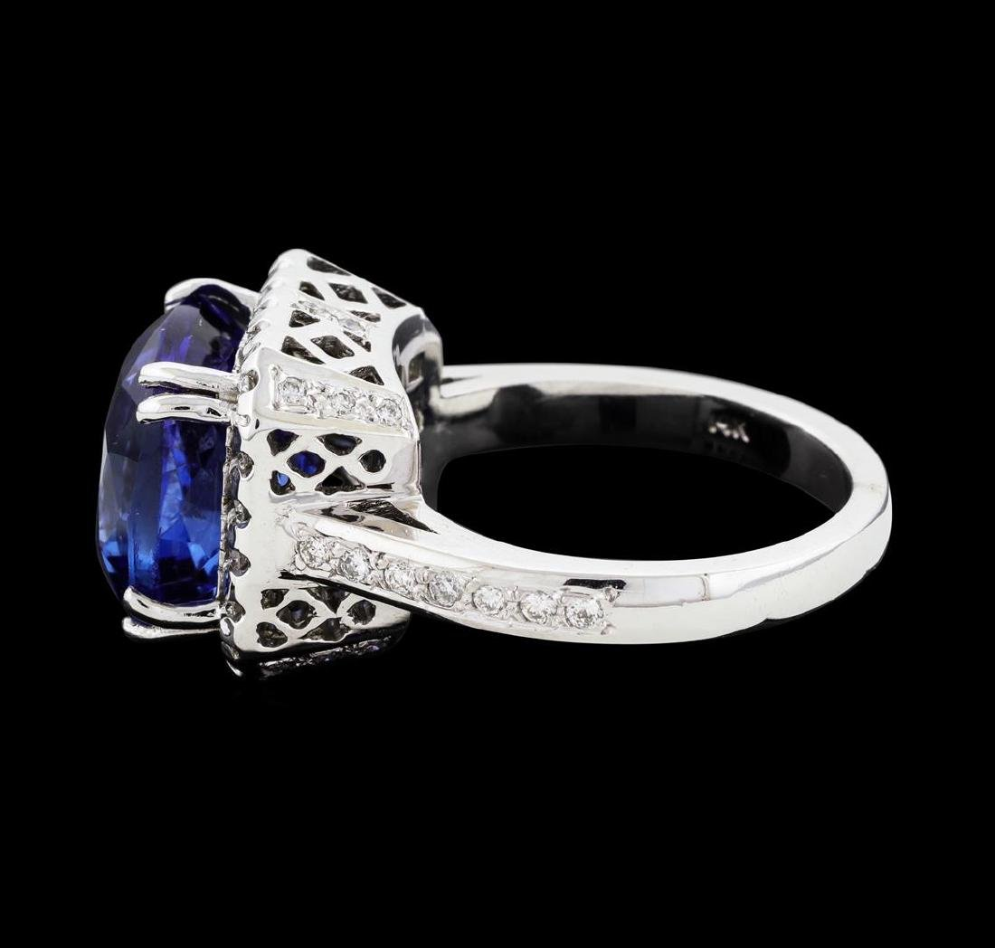 8.00 ctw Tanzanite and Diamond Ring - 14KT White Gold - 3