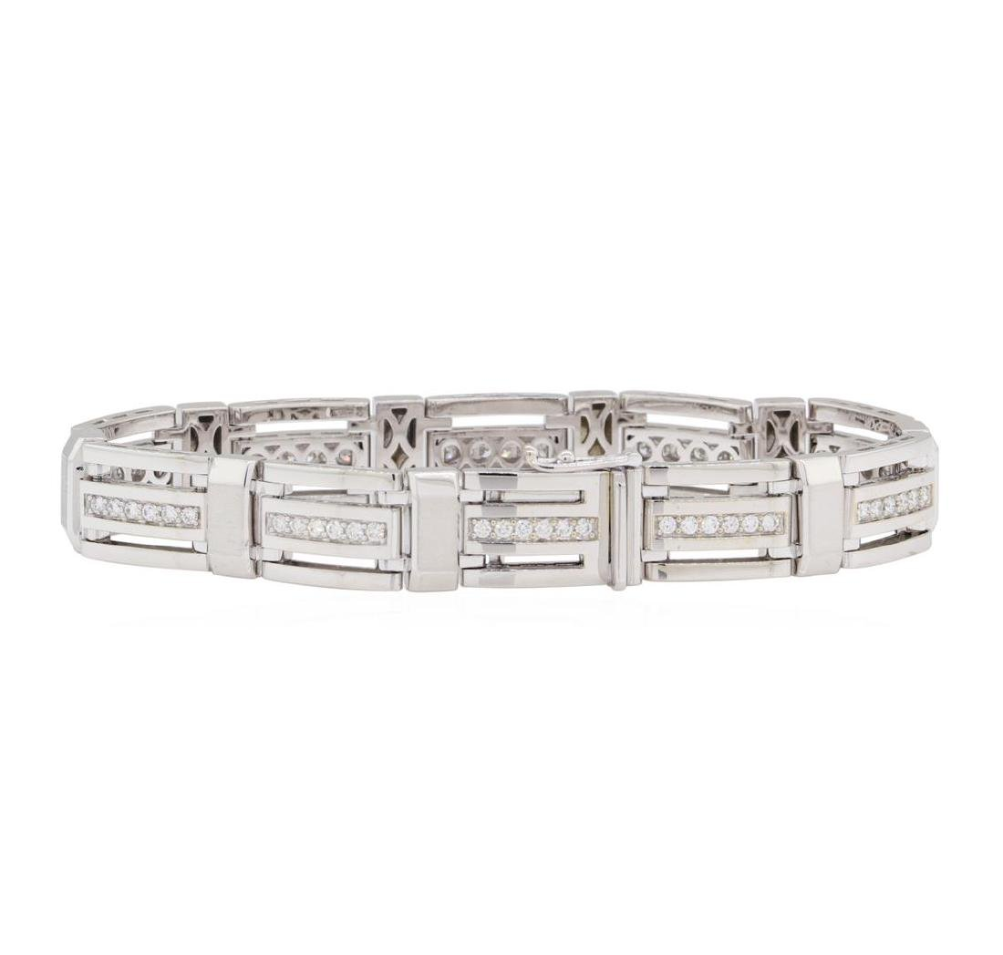 1.35 ctw Diamond Bracelet - 14KT White Gold - 2