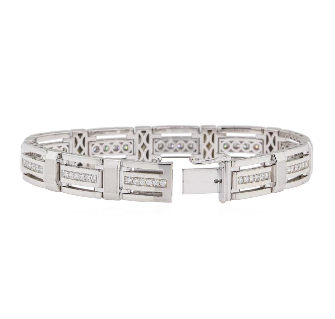 1.35 ctw Diamond Bracelet - 14KT White Gold - 3