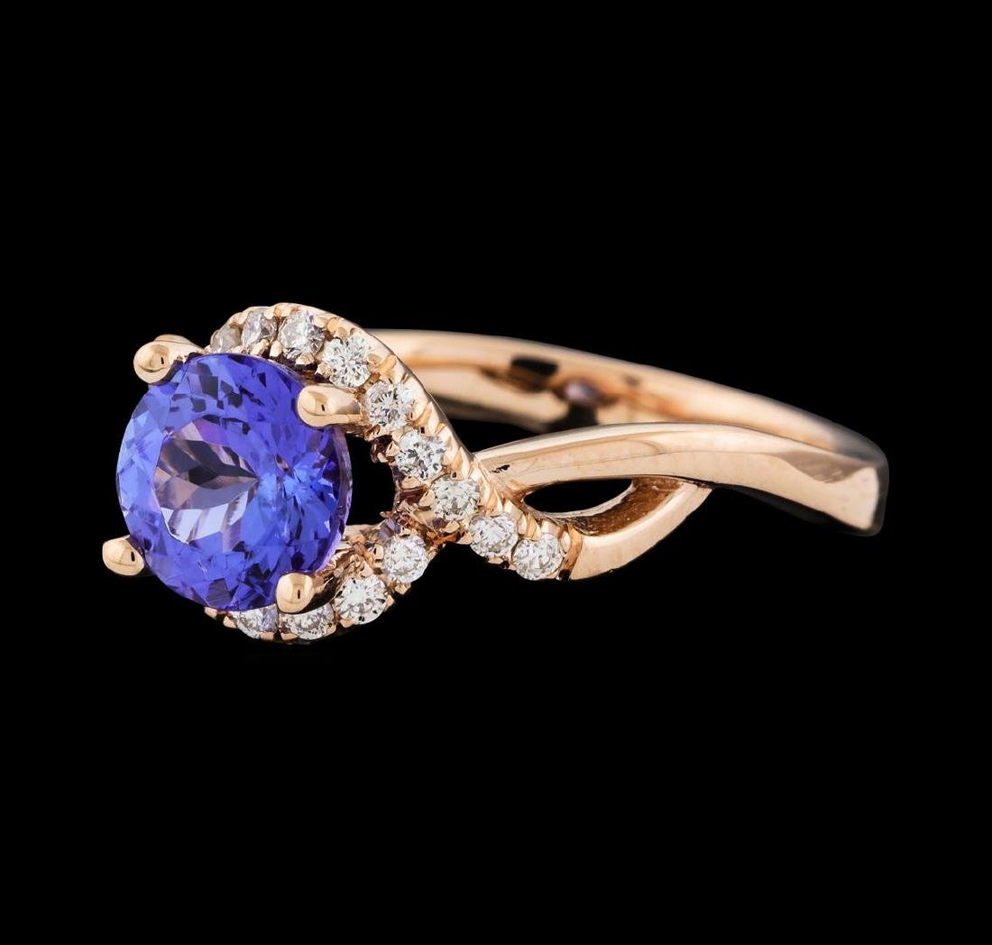 1.54 ctw Tanzanite and Diamond Ring