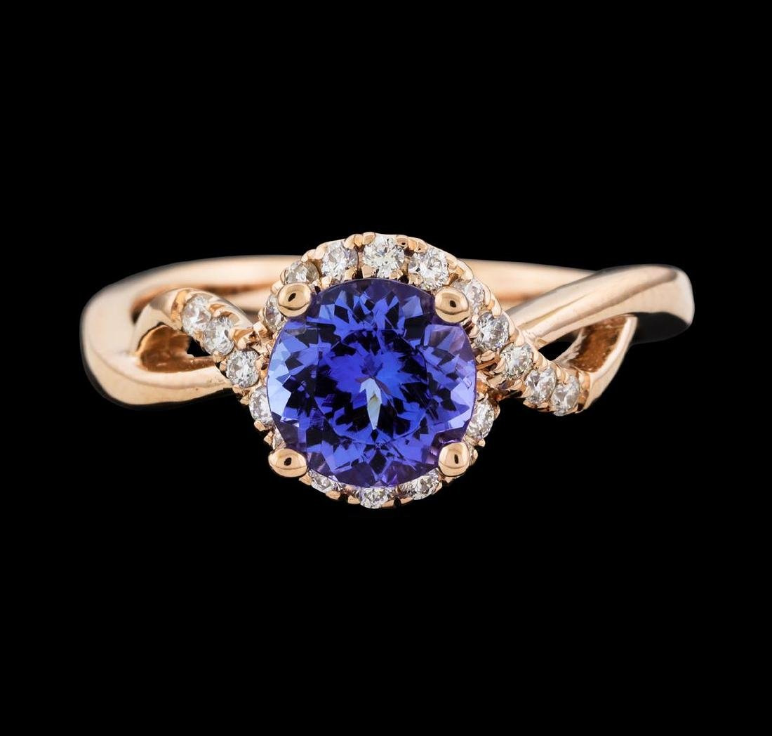 1.54 ctw Tanzanite and Diamond Ring - 2