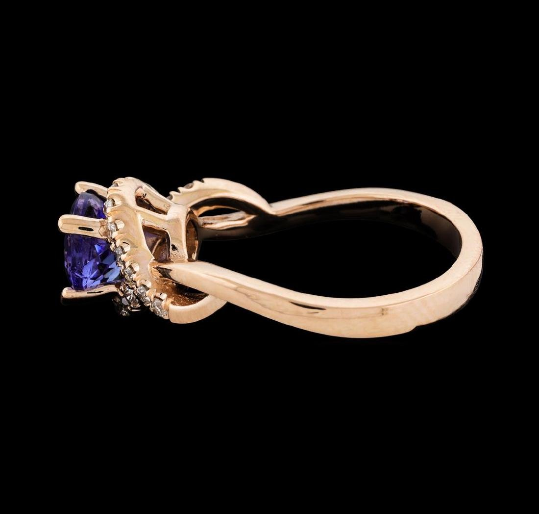 1.54 ctw Tanzanite and Diamond Ring - 3