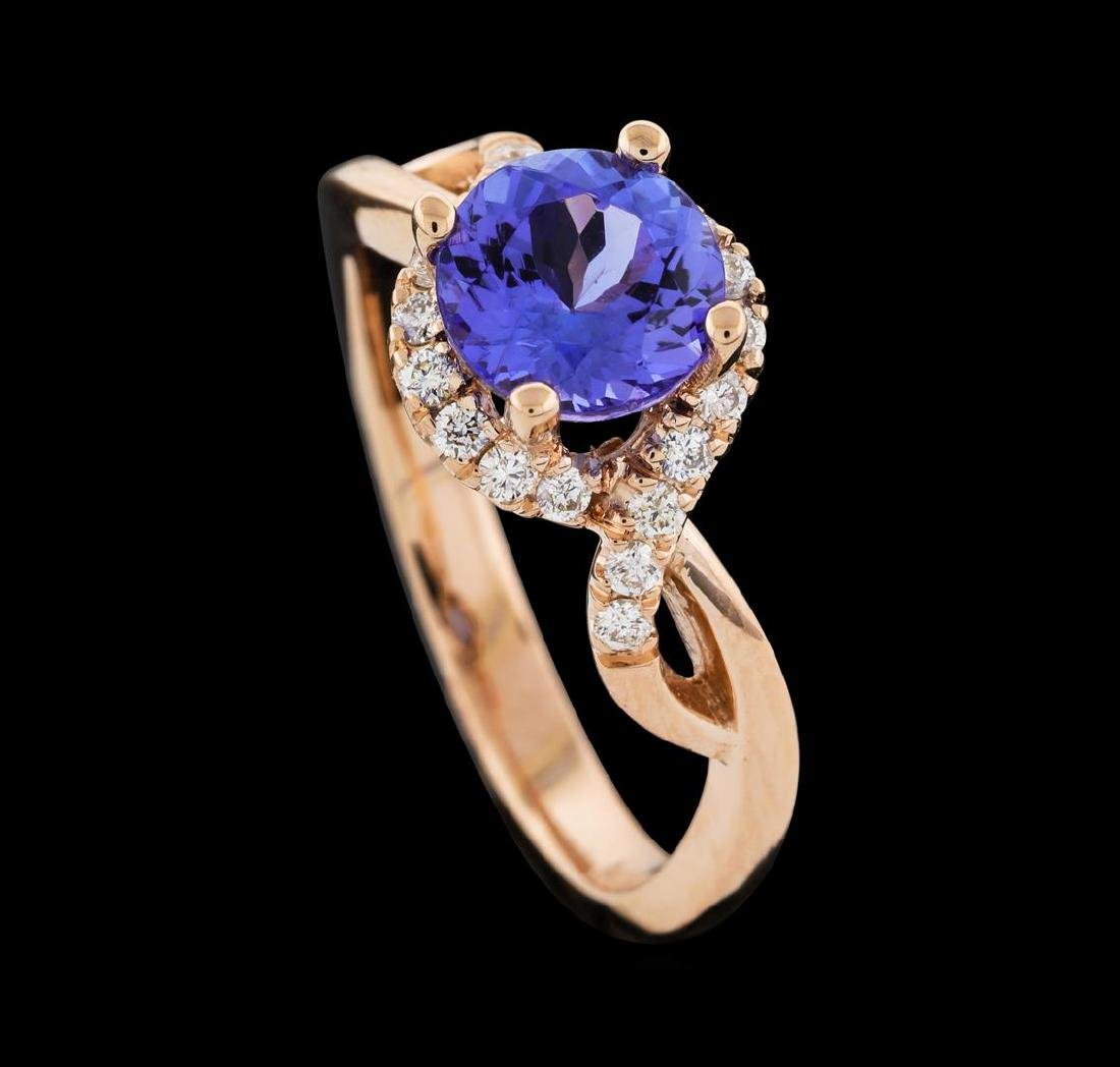 1.54 ctw Tanzanite and Diamond Ring - 4