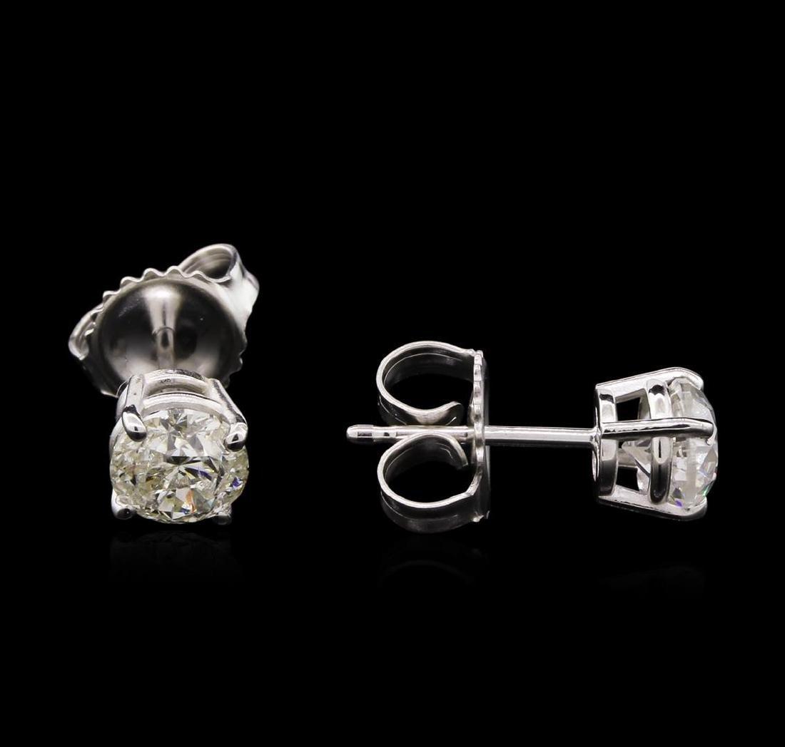 1.15 ctw Diamond Solitaire Earrings - 14KT White Gold - 2