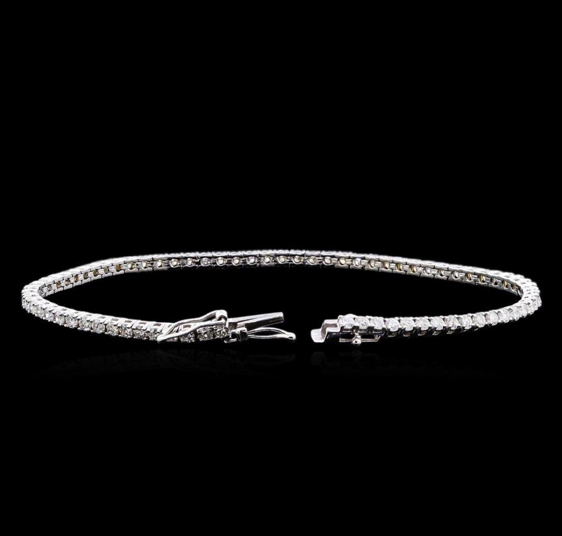 3.20 ctw Diamond Bracelet - 18KT White Gold - 3