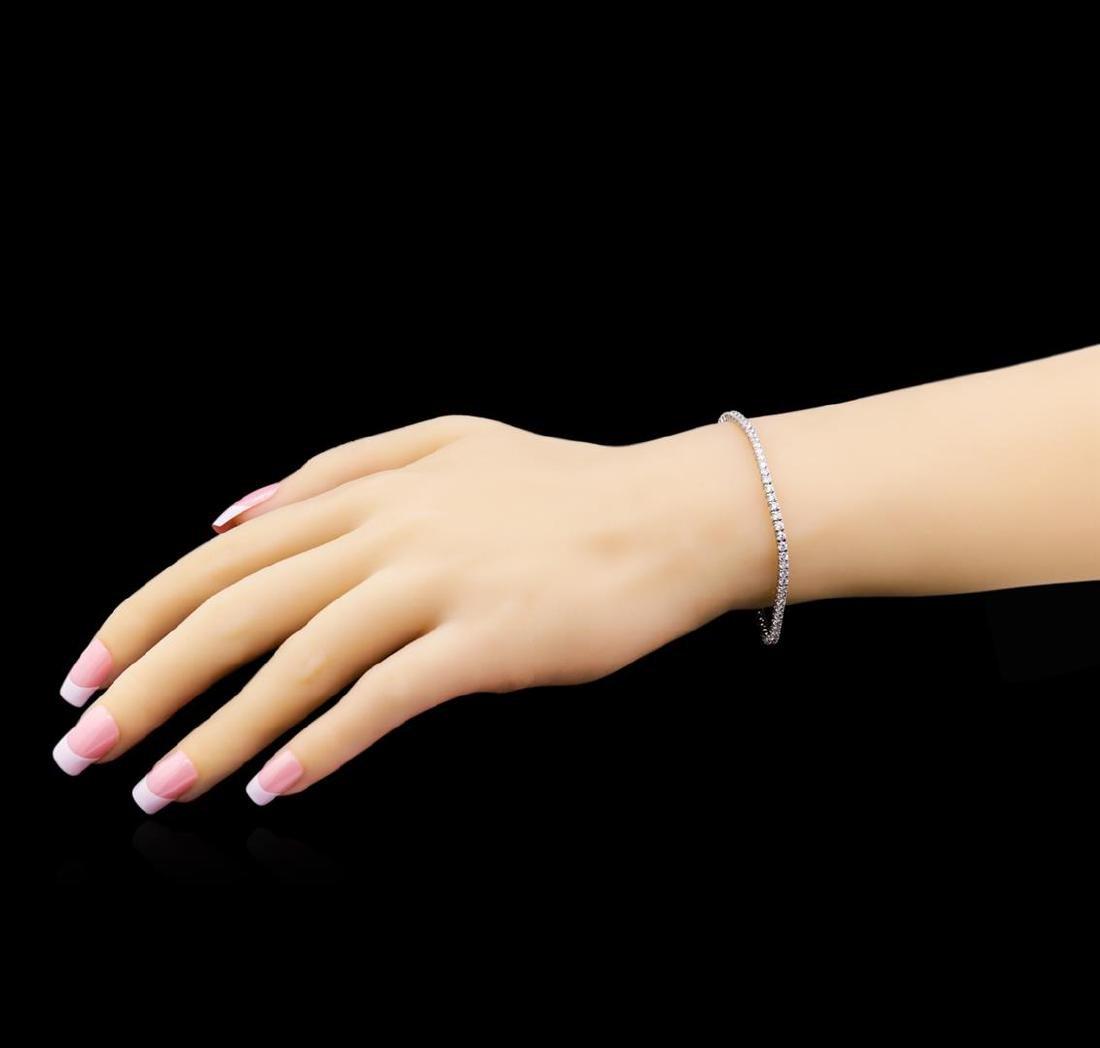 3.20 ctw Diamond Bracelet - 18KT White Gold - 4