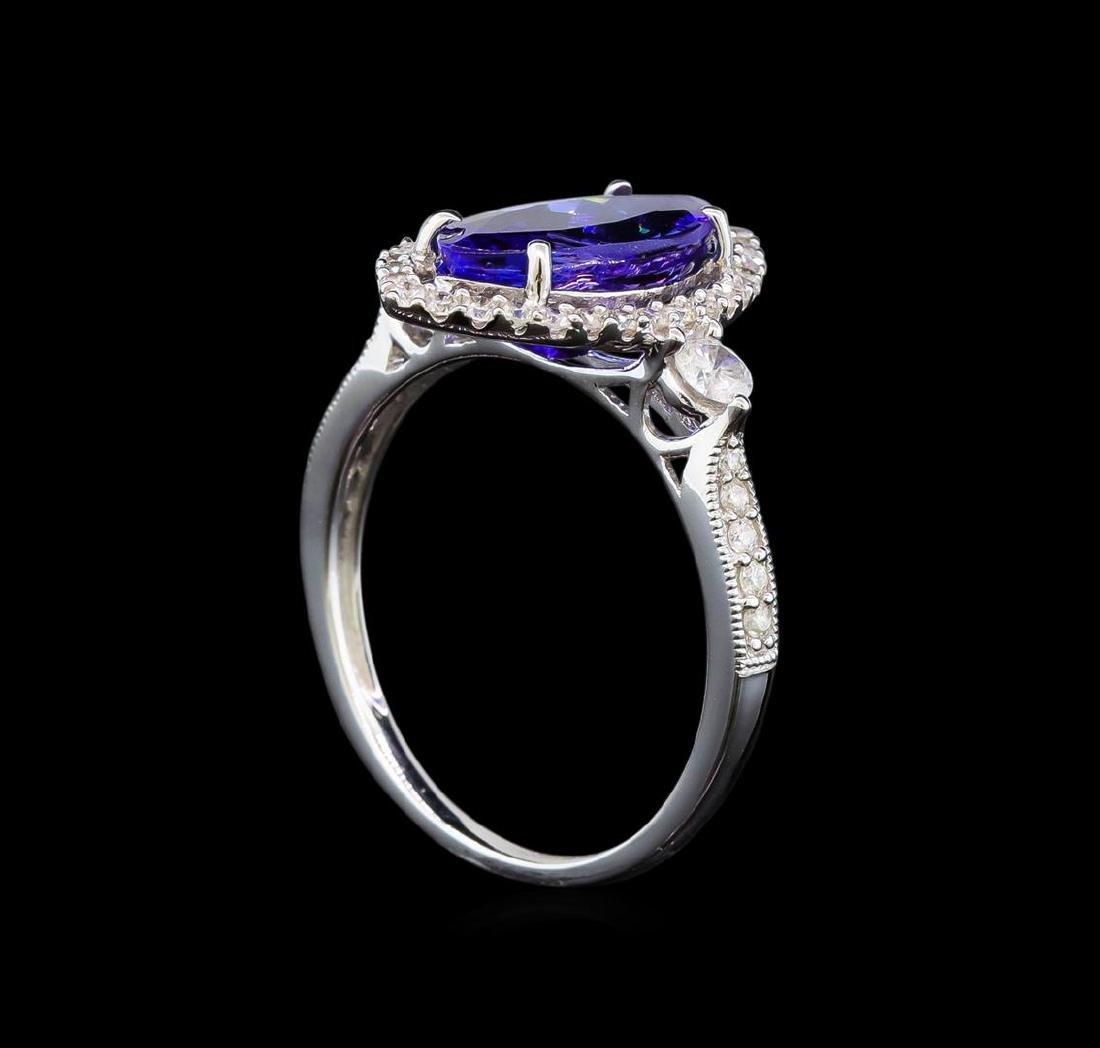 14KT White Gold 2.66 ctw Tanzanite and Diamond Ring - 4