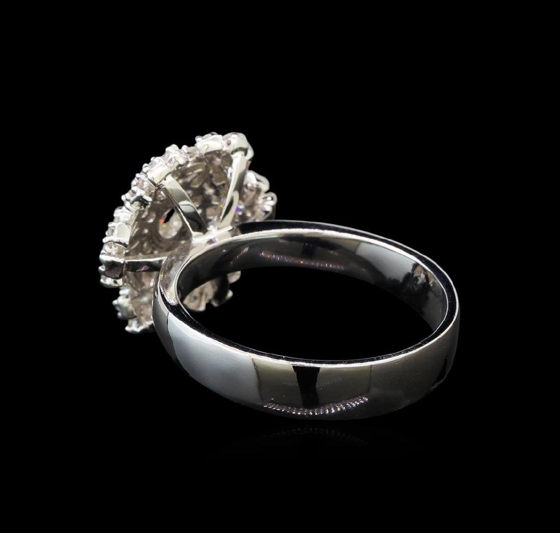 14KT White Gold 1.06 ctw Diamond Ring - 3