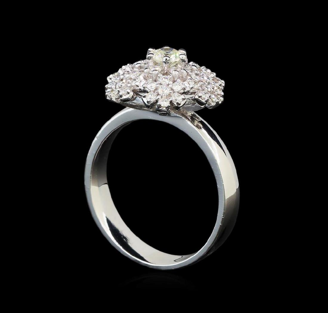 14KT White Gold 1.06 ctw Diamond Ring - 4