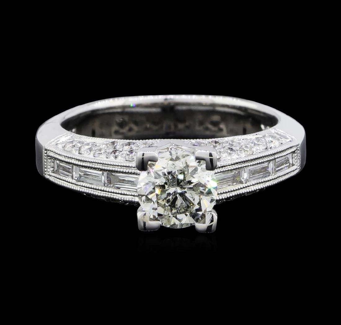 1.69 ctw Diamond Ring - 18KT White Gold - 3