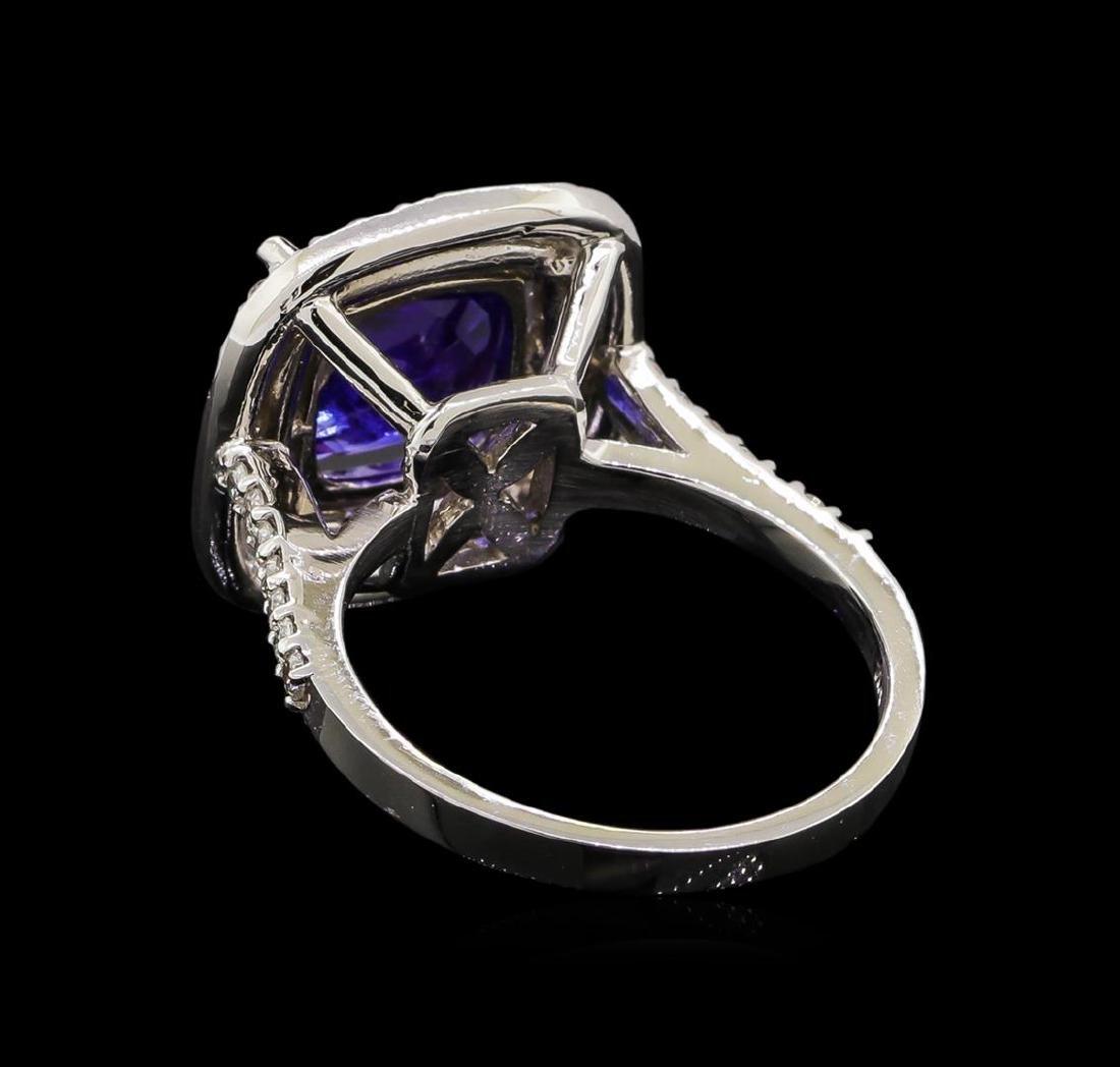 14KT White Gold 3.67 ctw Tanzanite and Diamond Ring - 3
