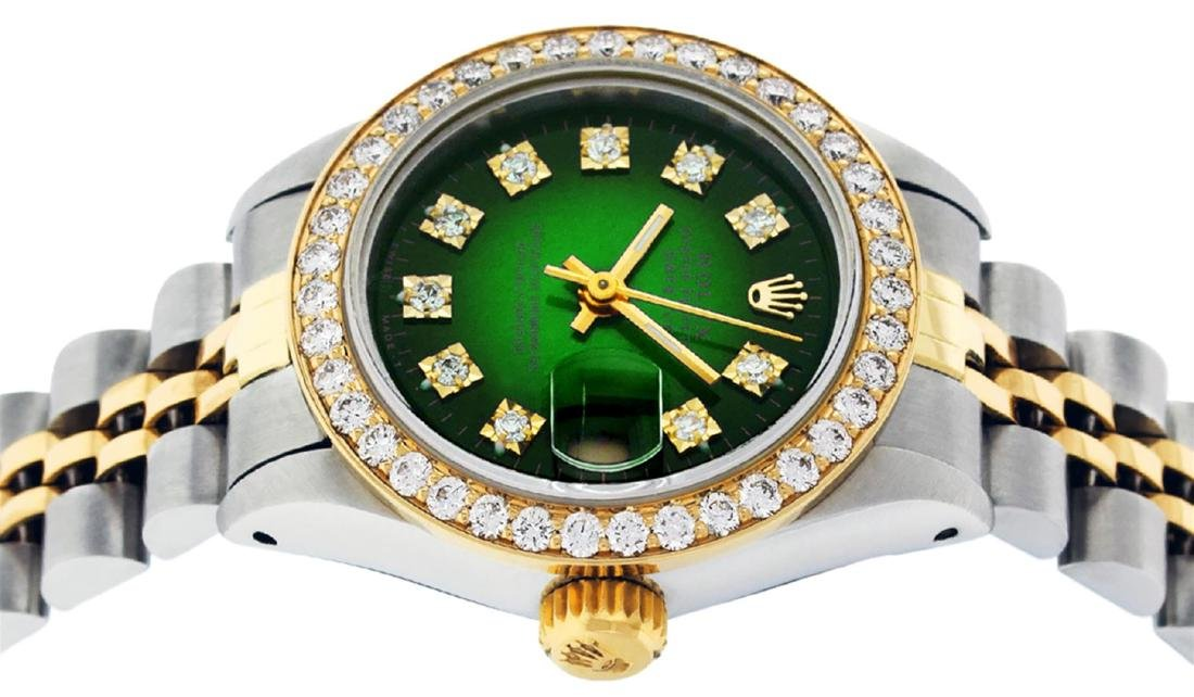 Rolex Ladies 2 Tone 14K Green Vignette VS Diamond - 3