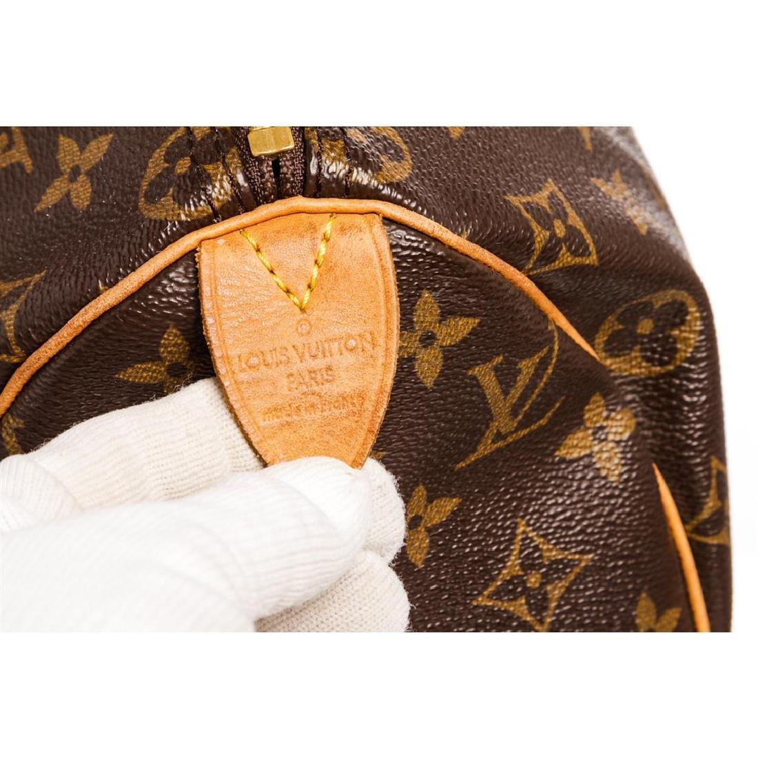 Louis Vuitton Monogram Canvas Leather Speedy 25 cm Bag - 7