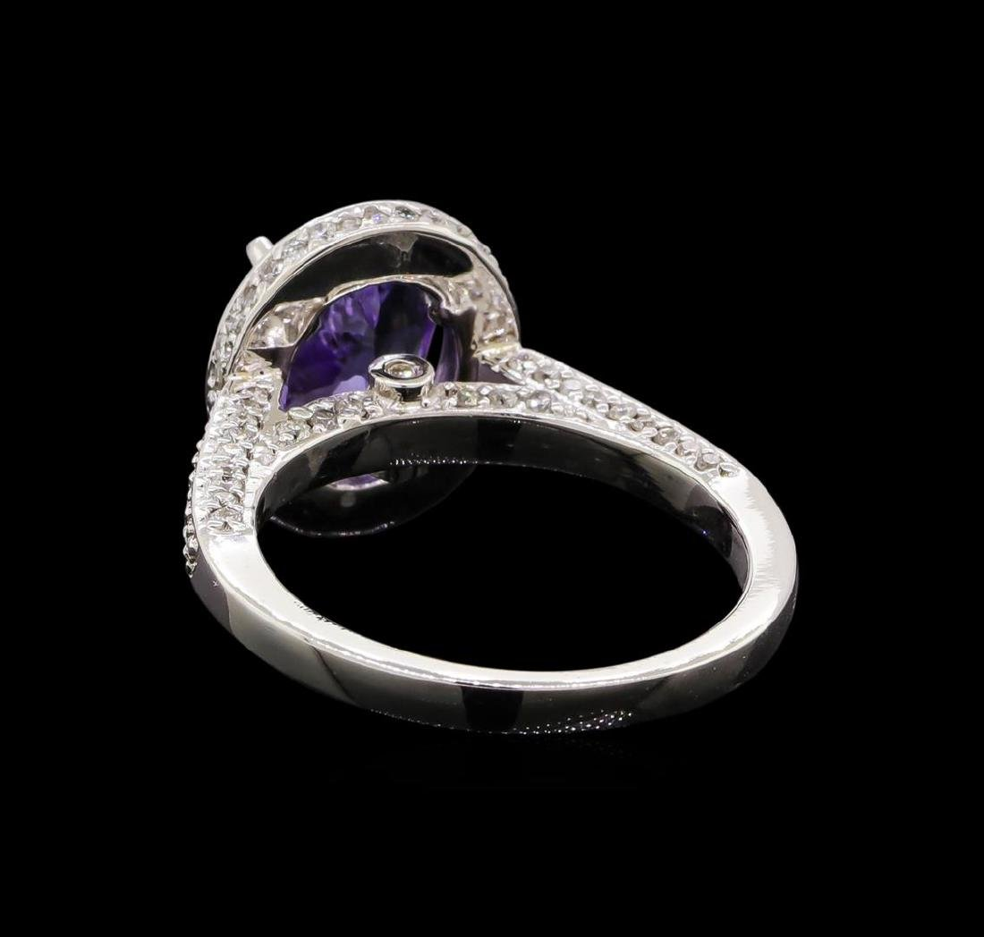 14KT White Gold 2.36 ctw Tanzanite and Diamond Ring - 3