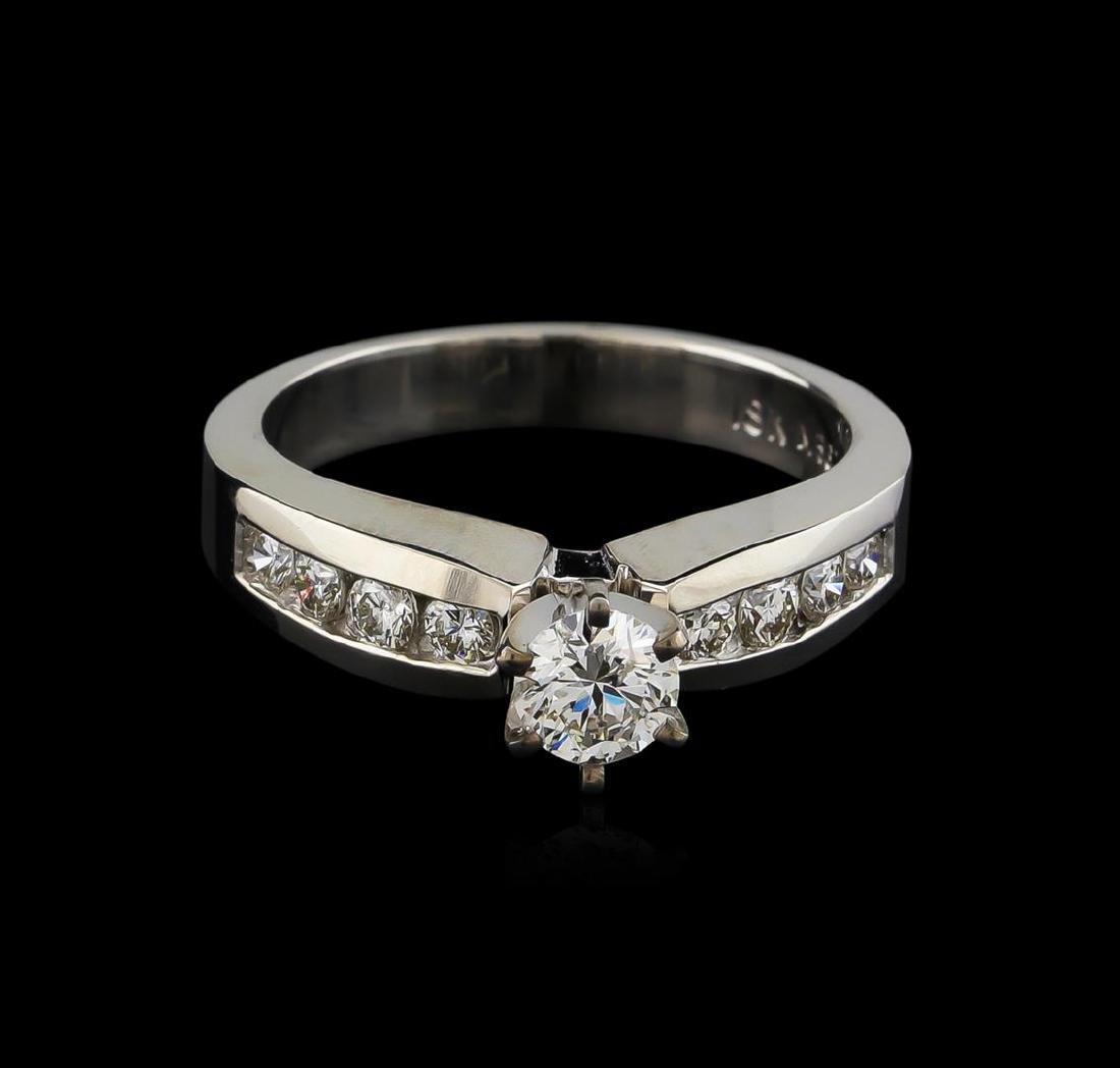 0.77 ctw Diamond Ring - 18KT White Gold - 2