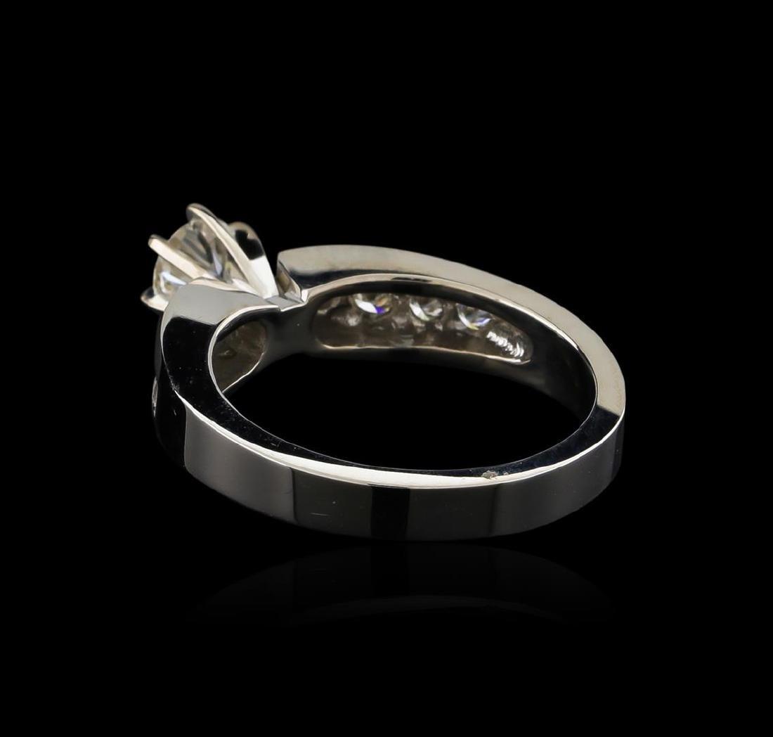0.77 ctw Diamond Ring - 18KT White Gold - 3