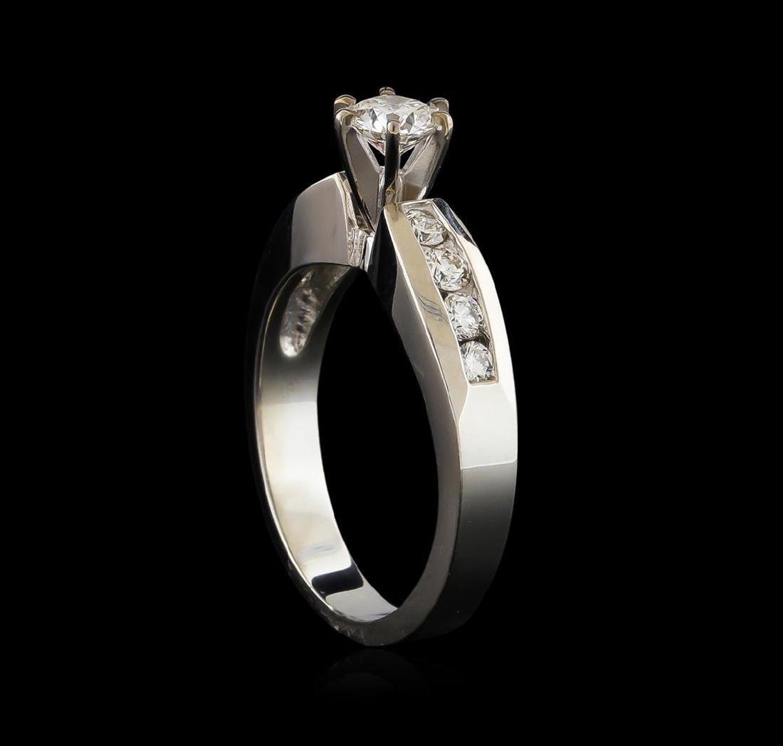 0.77 ctw Diamond Ring - 18KT White Gold - 4