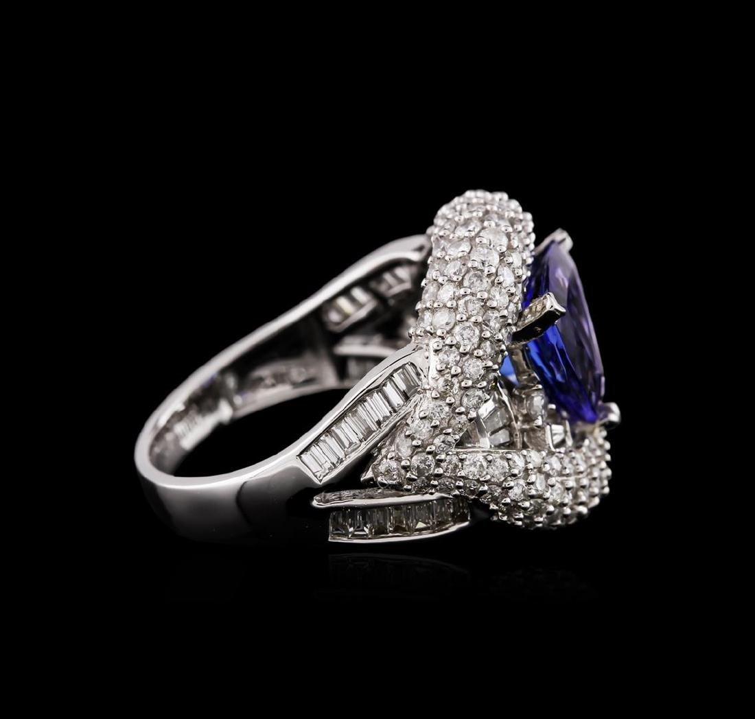 14KT White Gold 2.30 ctw Tanzanite and Diamond Ring - 3