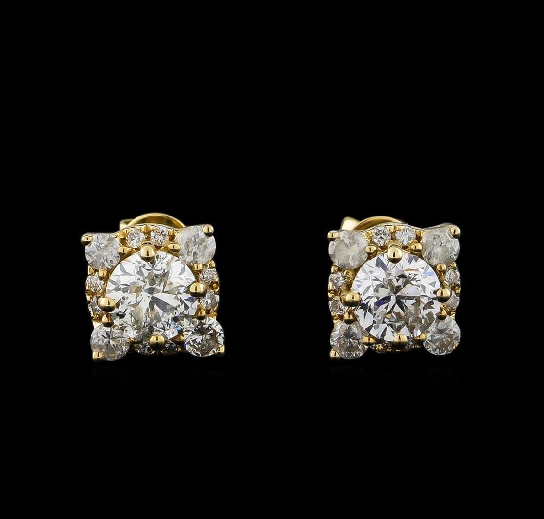 14KT Yellow Gold 1.62 ctw Diamond Earrings