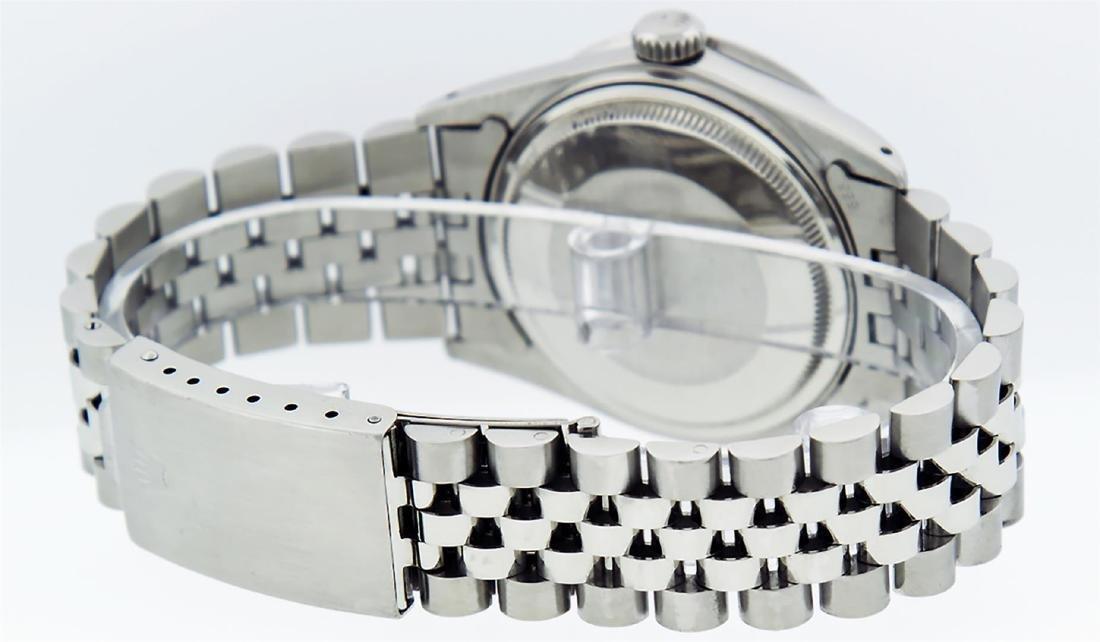 Rolex Mens Stainless Steel Puple String Diamond 36MM - 7