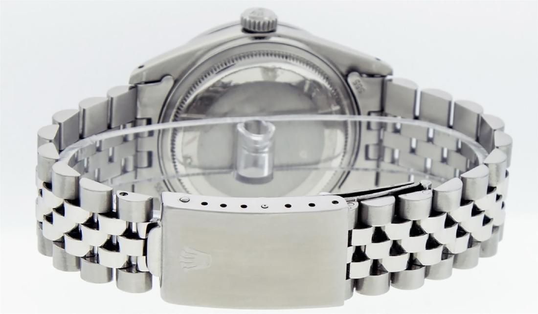 Rolex Mens Stainless Steel Puple String Diamond 36MM - 8