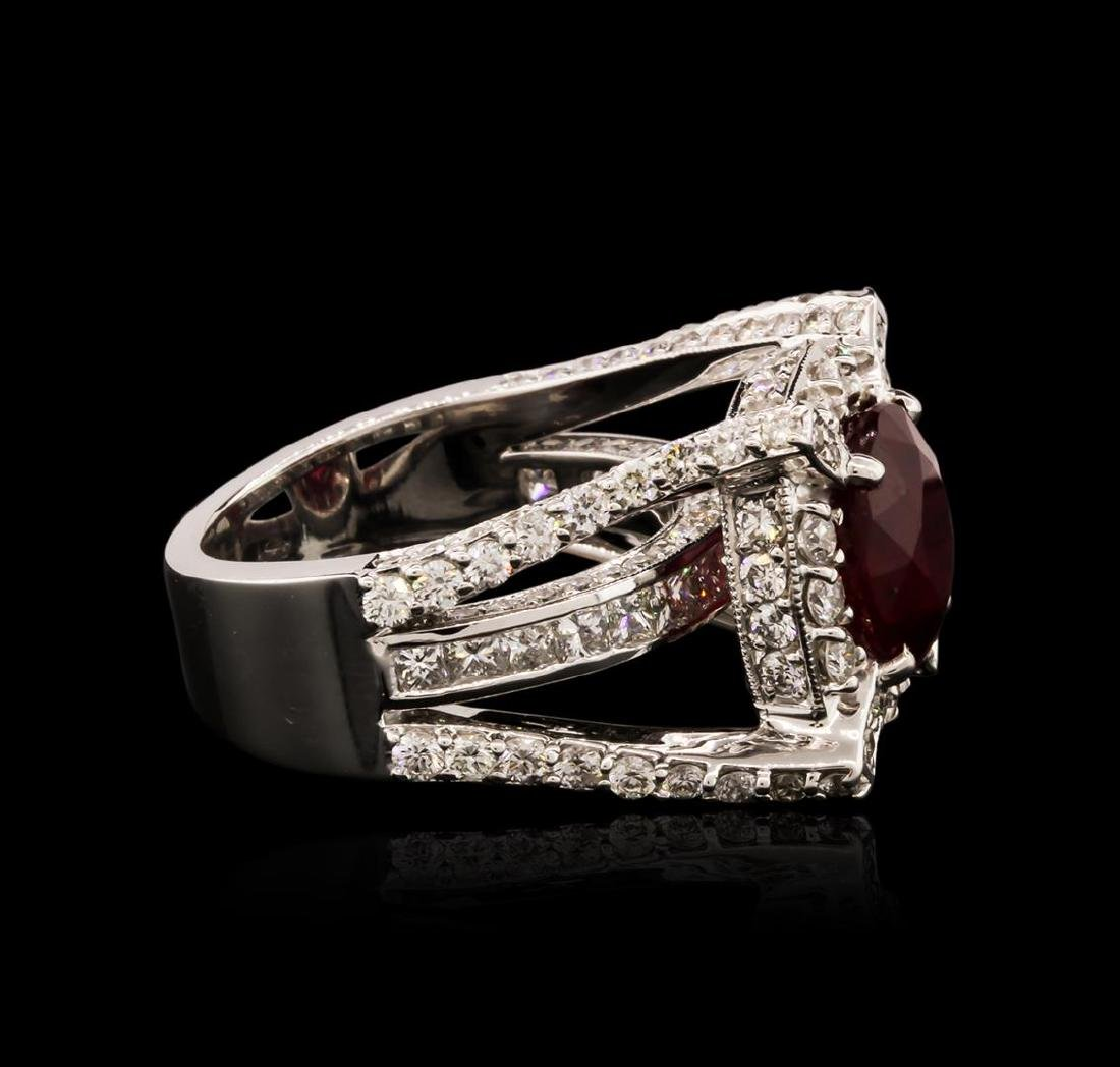 14KT White Gold 5.85 ctw Ruby and Diamond Ring - 3