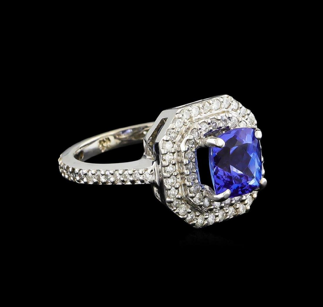 14KT White Gold 2.00 ctw Tanzanite and Diamond Ring